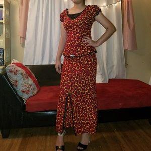 African Handmade Top/Skirt!